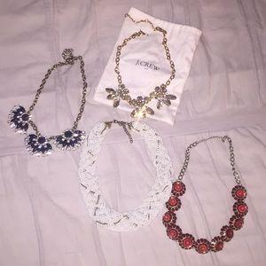 J crew necklace bundle with dust bag